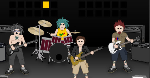 Punk-O-matic 2, Top 10, Top 20 music games you can play online, Casual Girl Gamer